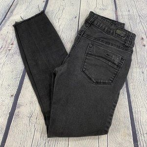 RSQ Jeans - RSQ Black Baja Ankle Jeans Distressed Frayed Hem